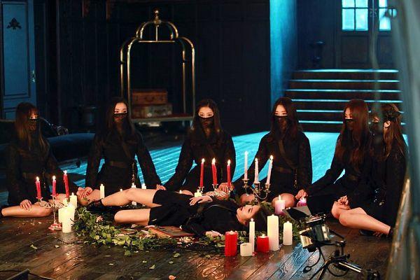 Tags: K-Pop, Dreamcatcher, Sua, Jiu, Lee Gahyeon, Dami (Dreamcatcher), Handong, Kim Yoohyeon, Lee Siyeon, Full Group, Headdress, Mask