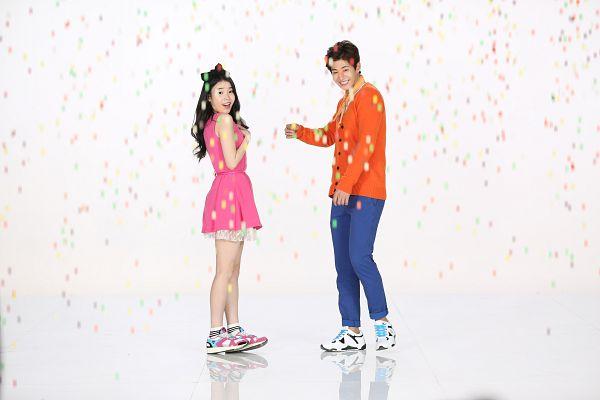 Tags: K-Pop, IU, Song Jae-rim, Duo, Orange Shirt, Wallpaper, Sbenu