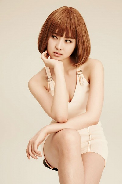 Tags: K-Pop, After School, E-young, Cleavage, Suggestive, Wig, Chin In Hand, No Background, Android/iPhone Wallpaper