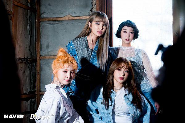 Tags: K-Pop, EXID, Le, Park Junghwa, Hani, Seo Hyerin, Hair Up, Quartet, Four Girls, Dispatch, Wallpaper