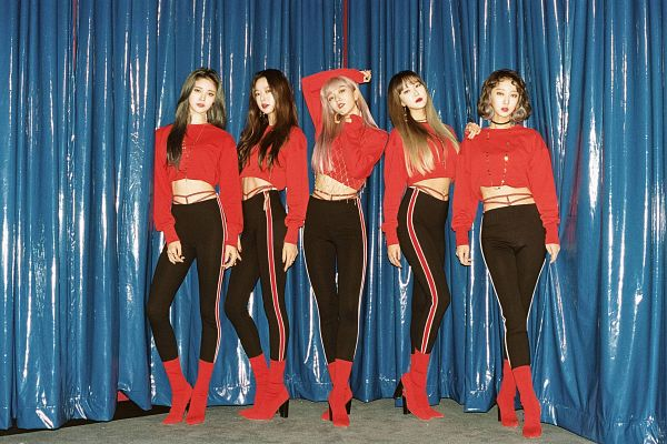 Tags: K-Pop, EXID, Le, Park Junghwa, Hani, Seo Hyerin, Heo Solji, High Heels, Midriff, Full Group, Boots, Black Pants