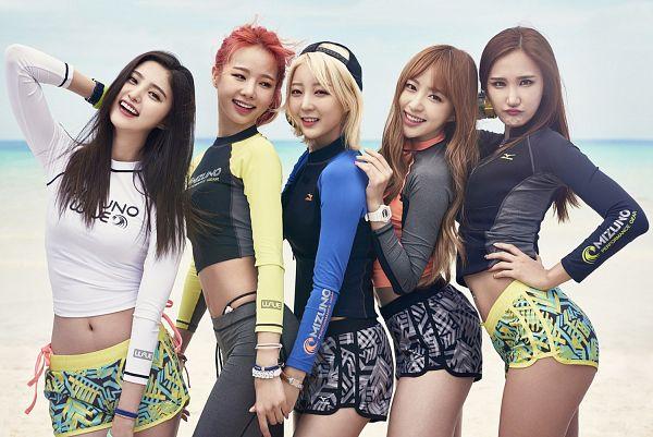 Tags: K-Pop, EXID, Le, Park Junghwa, Hani, Seo Hyerin, Heo Solji, Group, Wallpaper, Mizuno