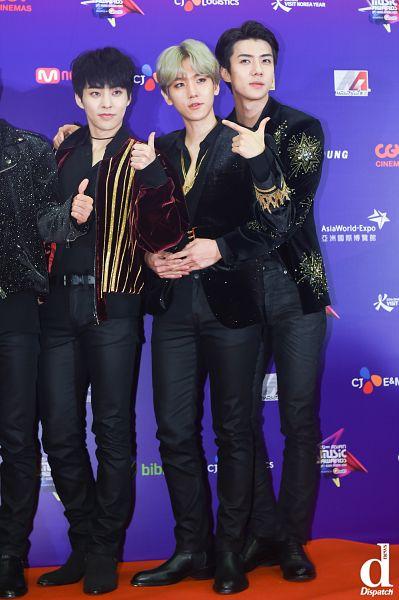 Tags: SM Town, K-Pop, EXO, Xiumin, Byun Baekhyun, Sehun, Trio, Dispatch