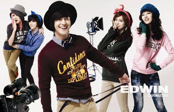 Tags: K-Pop, K-Drama, Miss A, Bae Suzy, Kim Bum, Wang Feifei, Meng Jia, Min, Hat, Red Shirt, Green Shirt, Pink Shirt