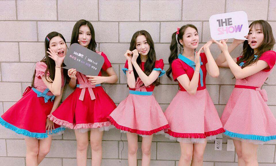 Tags: Hunus Entertainment, Television Show, K-Pop, Elris, Kim Sohee (Elris), Bella, Lee Yukyung, Karin, Hyeseong, Heart Gesture, Five Girls, Checkered