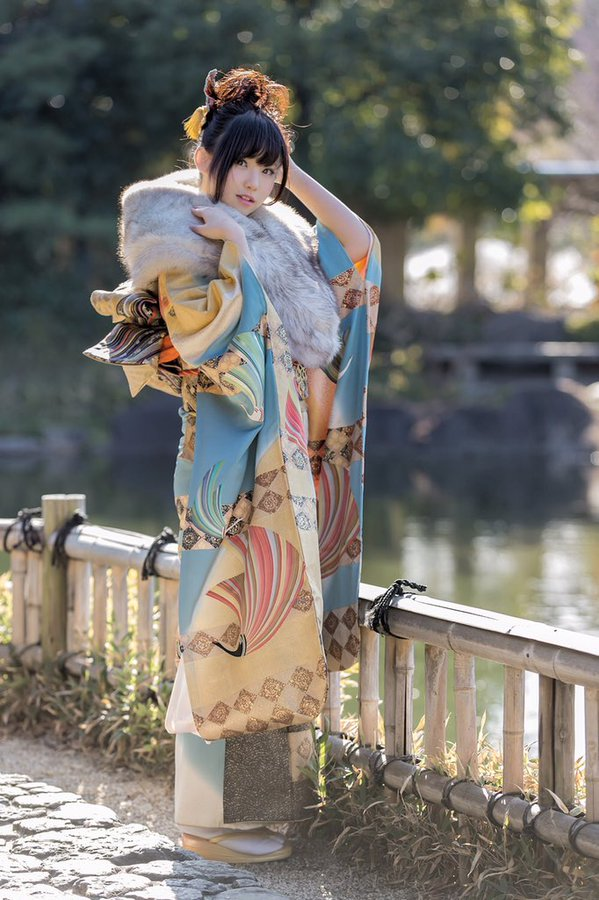 Tags: J-Pop, Gyaru, Enako, Traditional Clothes, Japanese Clothes, Hair Up, Blunt Bangs, Kimono