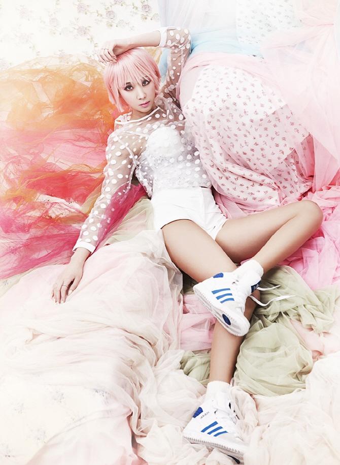 Tags: K-Pop, Nine Muses, Drama (Nine Muses), Euaerin, Pink Hair