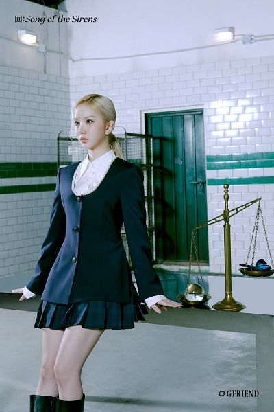 Tags: K-Pop, G-friend, Eunha, Table, Hair Up, Scale, Serious, Ponytail, Door, Skirt, Butterfly, Animal