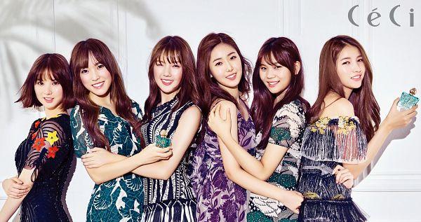 Tags: K-Pop, G-friend, Sowon, Jung Yerin, SinB, Eunha, Umji, Yuju, Bottle, Perfume Bottle, Hug, Full Group