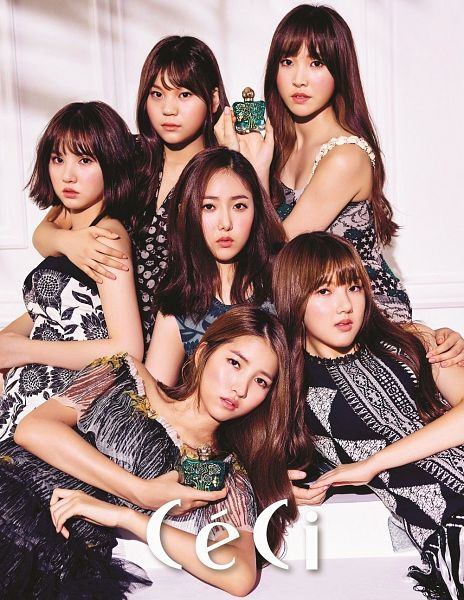 Tags: K-Pop, G-friend, Eunha, Umji, Yuju, Sowon, Jung Yerin, SinB, Perfume Bottle, Laying Down, Full Group, Hug