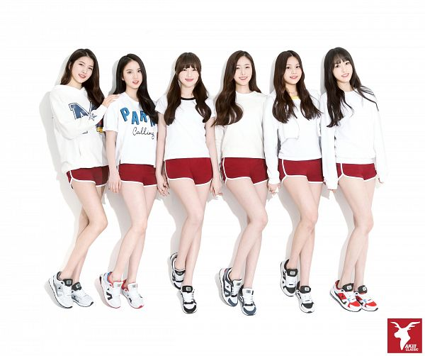 Tags: K-Pop, G-friend, Yuju, Sowon, Jung Yerin, SinB, Eunha, Umji, Full Body, Sneakers, Standing, Full Group