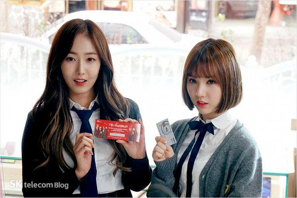 Tags: K-Pop, G-friend, SinB, Eunha, Two Girls, Duo, Tie, SK Telecom