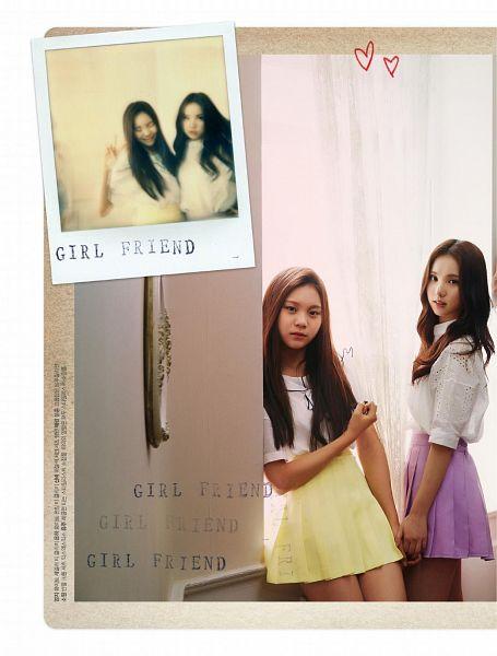 Tags: K-Pop, G-friend, Umji, Eunha, Serious, Text, Two Girls, Purple Skirt, Curtain, Skirt, Duo, Holding Hands