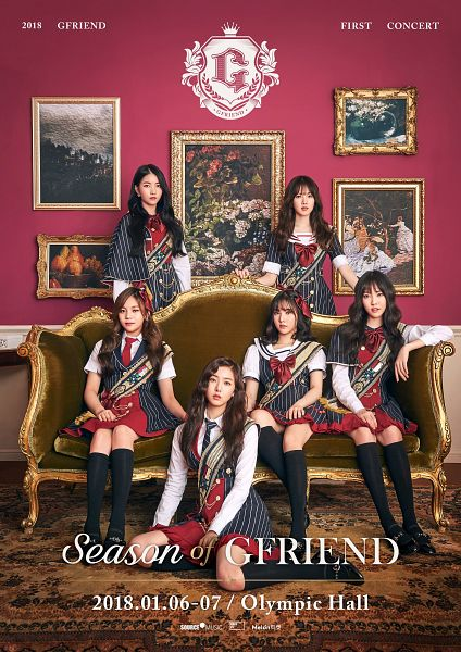Tags: K-Pop, G-friend, Sowon, Jung Yerin, SinB, Eunha, Umji, Yuju, Earrings, Short Sleeves, Striped Outfit, Sitting