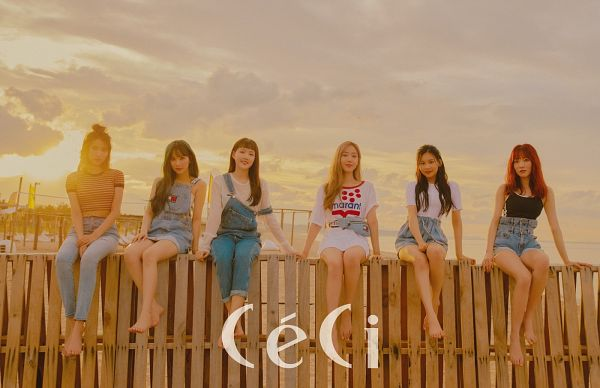 Tags: K-Pop, G-friend, Sowon, SinB, Umji, Eunha, Yuju, Jung Yerin, White Shorts, Shorts, Overalls, Clouds