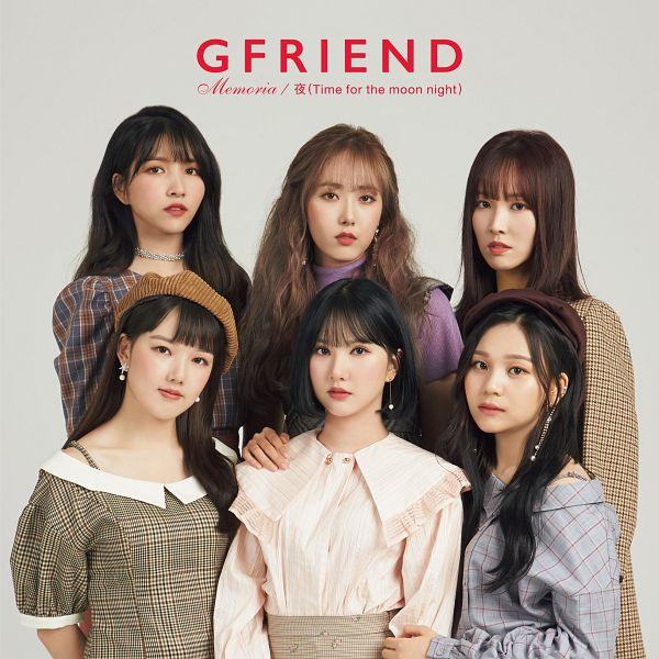 Tags: K-Pop, G-friend, Memoria, SinB, Eunha, Umji, Yuju, Sowon, Jung Yerin, Red Lips, Text: Artist Name, Plaided Dress