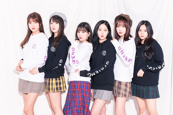 Tags: K-Pop, G-friend, SinB, Eunha, Umji, Yuju, Sowon, Jung Yerin, Hood, Skirt, Full Group, Plaided Skirt