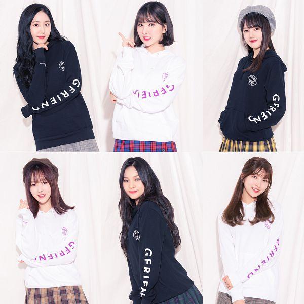 Tags: K-Pop, G-friend, Jung Yerin, SinB, Eunha, Umji, Yuju, Sowon, Plaided Print, Hat, Full Group, Plaided Skirt