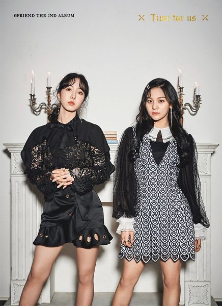 Tags: K-Pop, G-friend, Umji, SinB, Candle, Black Dress, Duo, Hair Ornament, Hair Up, Serious, Chandelier, Earrings