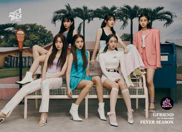 Tags: K-Pop, G-friend, Eunha, Umji, Yuju, Sowon, Jung Yerin, SinB, Palm Tree, Full Group, Tree, Serious
