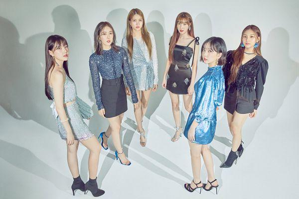 Tags: K-Pop, G-friend, Yuju, Sowon, Jung Yerin, SinB, Eunha, Umji, High Heels, Sandals, Black Outfit, Skirt