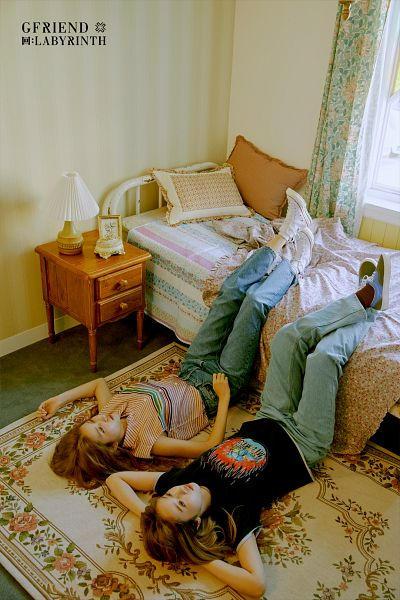 Tags: K-Pop, G-friend, Sowon, SinB, Laying Down, Bed, Shoes, Carpet, Window, Lamp, Jeans, Curtain
