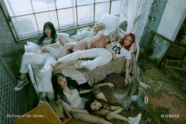Tags: K-Pop, G-friend, Yuju, Sowon, Jung Yerin, SinB, Eunha, Umji, Window, Serious, Pillow, Full Group