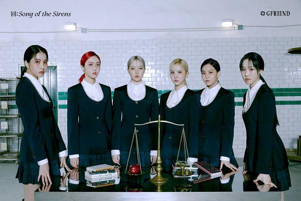 Tags: K-Pop, G-friend, Eunha, Umji, Yuju, Sowon, Jung Yerin, SinB, Book, Apple, Red Hair, Black Jacket
