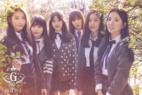 Tags: K-Pop, G-friend, Sowon, Jung Yerin, SinB, Eunha, Umji, Yuju, Plant, Full Group, Tree, Snowflake (G-friend)