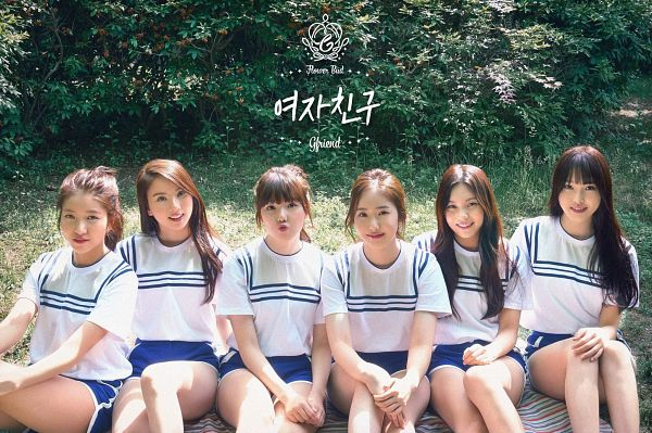 Tags: K-Pop, G-friend, Eunha, Umji, Yuju, Sowon, Jung Yerin, SinB, Full Group, Grass, Shorts, Blue Shorts