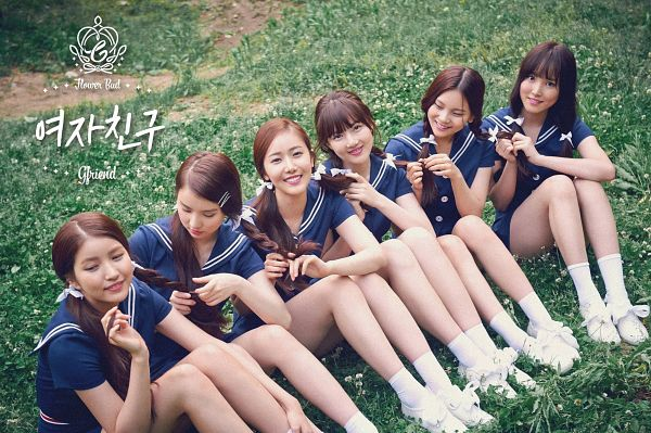 Tags: K-Pop, G-friend, Eunha, Umji, Yuju, Sowon, Jung Yerin, SinB, Grass, Group, Twin Tails, Full Group