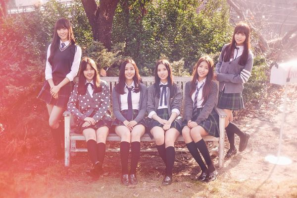 Tags: K-Pop, G-friend, Eunha, Umji, Yuju, Sowon, Jung Yerin, SinB, Full Group, Group, Sitting On Bench, Bench