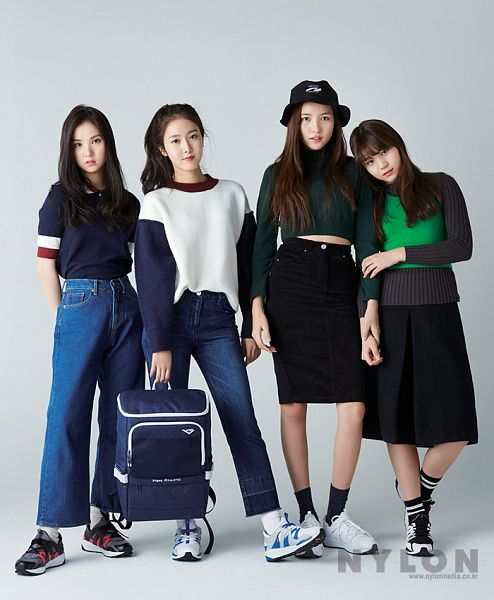 Tags: K-Pop, G-friend, Eunha, Sowon, Umji, SinB, Quartet, Four Girls, Nylon, Magazine Scan