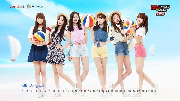 Tags: K-Pop, G-friend, Eunha, Umji, Yuju, Sowon, Jung Yerin, SinB, Hand On Hip, Pink Shorts, Shorts, Full Group