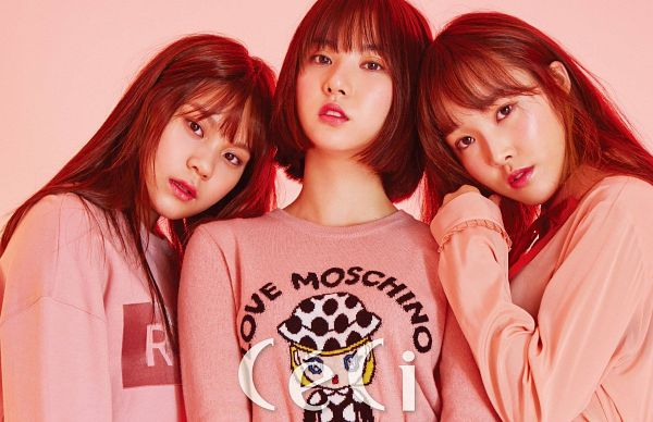 Tags: K-Pop, G-friend, Yuju, Eunha, Umji, Pink Background, CeCi, Wallpaper, Magazine Scan