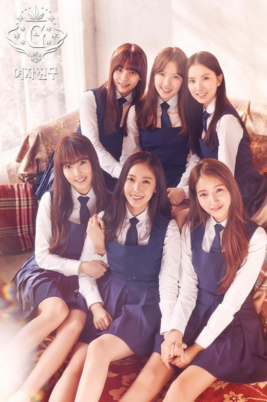 Tags: K-Pop, G-friend, Yuju, Sowon, Jung Yerin, SinB, Eunha, Umji, Tie, Blue Dress, Blue Outfit, Snowflake (G-friend)