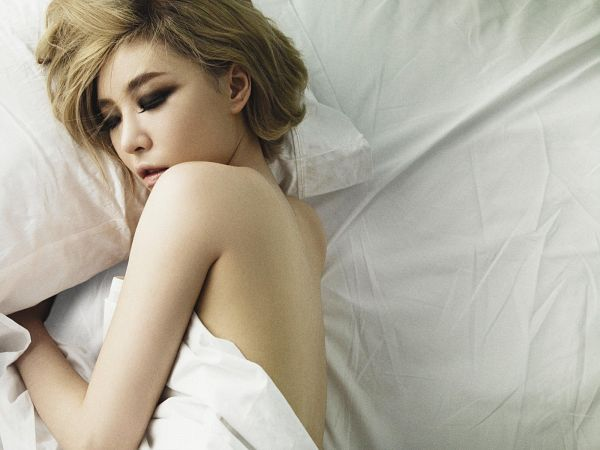 Tags: K-Pop, Brown Eyed Girls, Ga-In, Sexy Pose, Topless (Female), Eyeshadow, Laying Down, Laying On Side, Bed, On Bed, Eyes Closed, Back