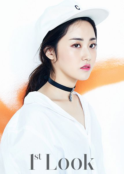 Tags: 4Minute, Gayoon, Light Background, White Background, Text: Magazine Name, Choker, Magazine Scan, 1st Look
