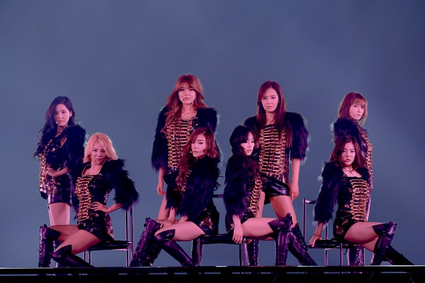 Tags: K-Pop, Girls' Generation, Kim Hyo-yeon, Stephanie Young Hwang, Seohyun, Sunny, Im Yoona, Kim Tae-yeon, Sooyoung, Kwon Yuri, Black Shirt, Leather Shorts