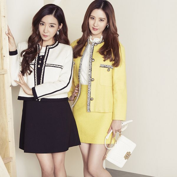 Tags: SM Town, K-Pop, Girls' Generation, Seohyun, Stephanie Young Hwang, Black Dress, White Jacket, Skirt, White Outfit, Bag, Black Outfit, Yellow Outerwear