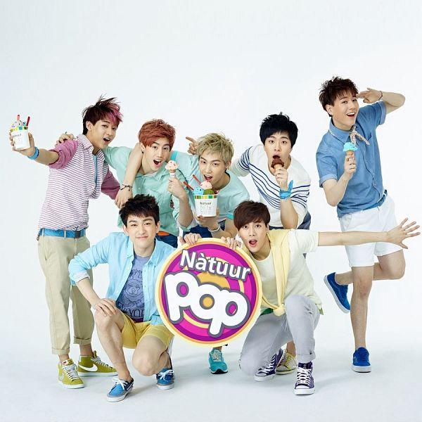 Tags: K-Pop, Got7, Kim Yugyeom, Mark, BamBam, Jackson, JB, Park Jinyoung (Junior), Choi Youngjae, Shorts, Salute, Light Background