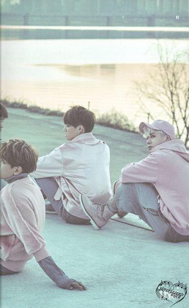 Tags: K-Pop, Got7, BamBam, JB, Jackson, Sitting On Ground, Hoodie, Trio, Water, Hat, Three Males, Pink Shirt