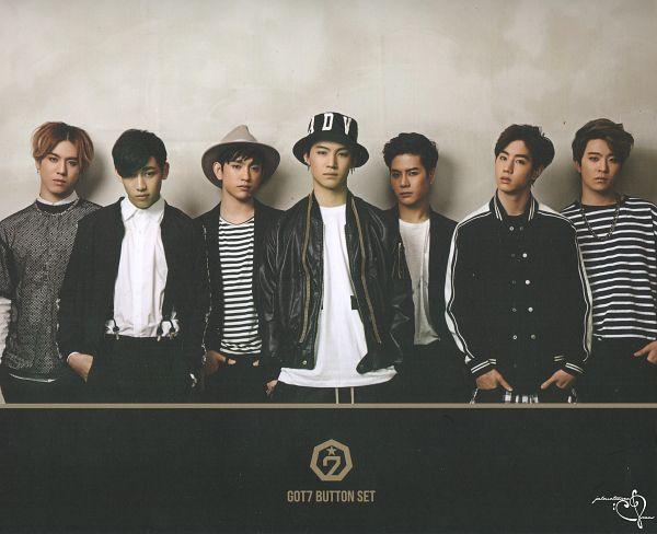 Tags: K-Pop, Got7, Kim Yugyeom, Mark, BamBam, Jackson, JB, Park Jinyoung (Junior), Choi Youngjae, Serious, Striped Shirt, Hat