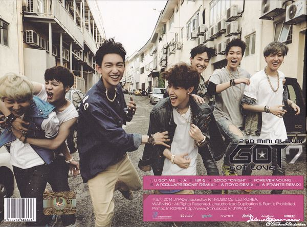 Tags: K-Pop, Got7, Mark, BamBam, Jackson, JB, Park Jinyoung (Junior), Choi Youngjae, Kim Yugyeom, Laughing, Full Group, Got Love