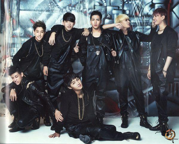 Tags: JYP Entertainment, K-Pop, Got7, BamBam, Jackson, JB, Park Jinyoung (Junior), Choi Youngjae, Kim Yugyeom, Mark, Necklace, Full Group
