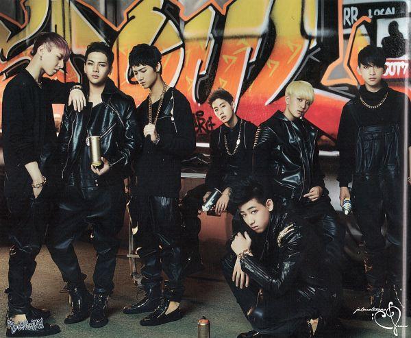 Tags: JYP Entertainment, K-Pop, Got7, Kim Yugyeom, Mark, BamBam, Jackson, JB, Park Jinyoung (Junior), Choi Youngjae, Black Pants, Serious