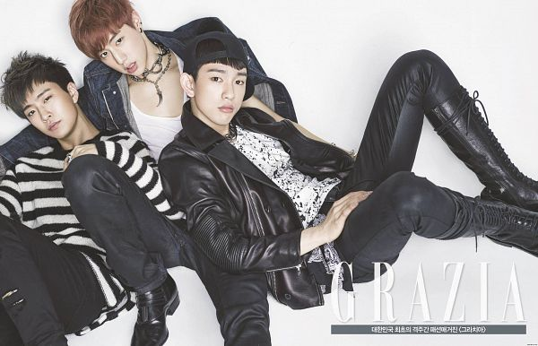 Tags: K-Pop, Got7, Mark, JB, Park Jinyoung (Junior), Group, Three Males, Trio, Magazine Scan, Wallpaper, Grazia Korea