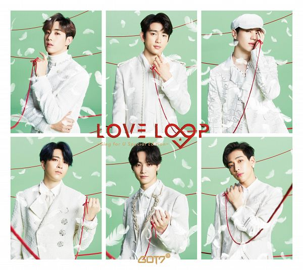 Tags: J-Pop, K-Pop, Got7, Choi Youngjae, Kim Yugyeom, Mark, BamBam, JB, Park Jinyoung (Junior), Hand On Cheek, Text: Album Name, Hand On Shoulder