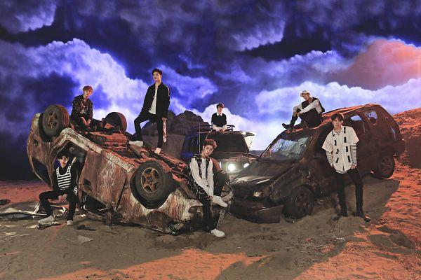 Tags: JYP Entertainment, K-Pop, Got7, Choi Youngjae, Kim Yugyeom, Mark, BamBam, Jackson, JB, Park Jinyoung (Junior), Full Group, Black Pants