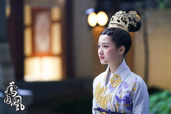 Tags: C-Drama, Guan Xiaotong, Night, Text: Series Name, Traditional Clothes, Hair Ornament, Single Bun, Sad, Hair Buns, Chinese Clothes, Chinese Text, Hair Up